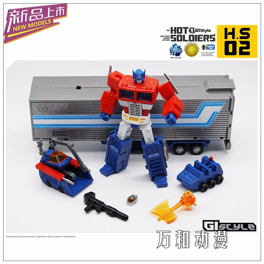 Nuevos Transformers Juguetes Hot soldados HS-02 Optimus Prime Mini Figura De Acción