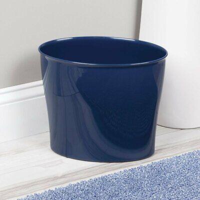 """Blue Bathroom Trash Can Navy Blue Trash Can Plastic Waste Basket 11.5/""""x6.78/""""x10/"""""""