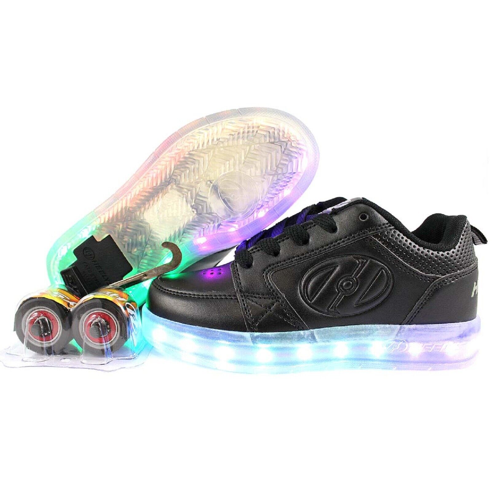 Triple White RRP £49.99 Heelys Premium 1 Lo Light Up Shoes