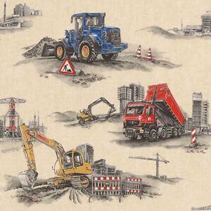 Rasch-Construction-Papier-Peint-293500-Tracteur-Benne