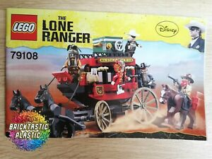 LEGO-INSTRUCTIONS-BOOKLET-ONLY-Stagecoach-Escape-The-Lone-Ranger-79108