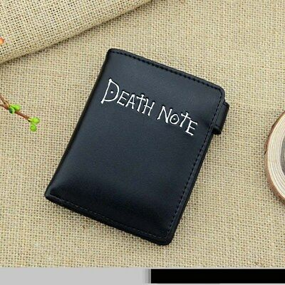 Anime Death Note PU Leather Note Button Purse Coin Bag Cash Money Holder Gift