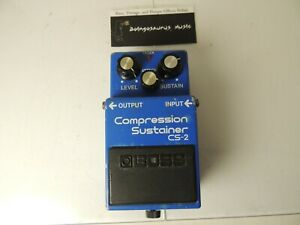 Vintage Boss CS-2 Compressor Sustainer Effects Pedal Sustain MIJ Made in Japan