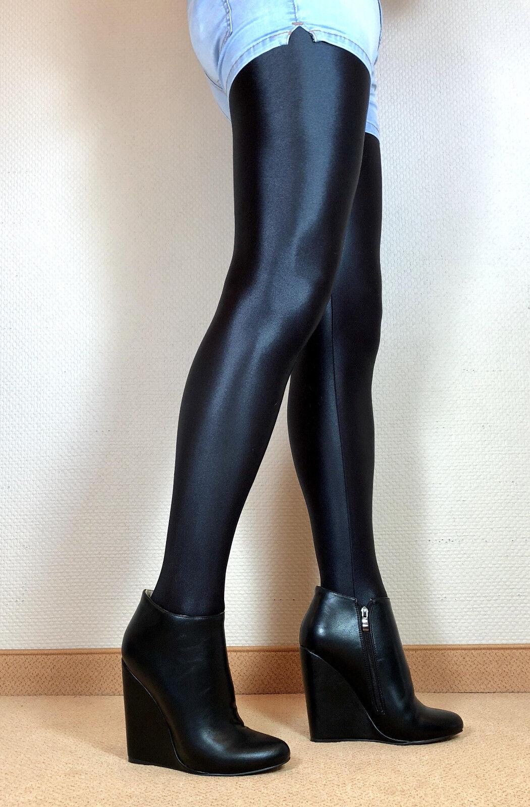 en exclusiva sexy tacón alto zapatos señora Wedges Booties mujers botas f3