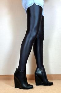 Gr-45-Exklusiv-Sexy-High-Heels-Damen-Schuhe-Wedges-Booties-Maenner-Stiefel-F3