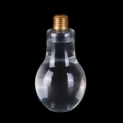 New Plastic Light Bulb Shaped Bottle Drink Cup Water Bottle Party300/500ML WF