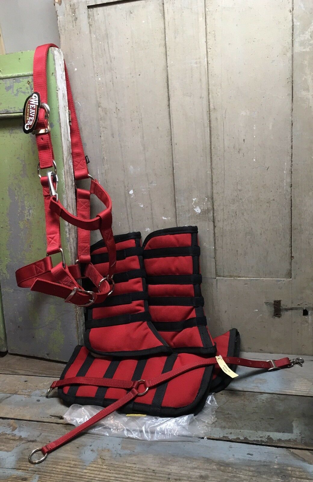 New Weaver Horse Halter, Training Fork, Set Of  4 Flared Shipping Boots  up to 50% off