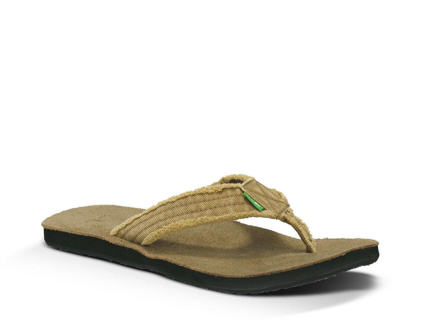 Sanuk Fraid Not Men's Flip Flop Sandals - Khaki - SMS2117