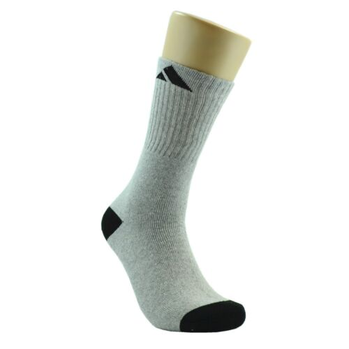 Adi 12 Pairs Crew Mens Athletic Sport Socks Cotton High Top Size 9-11 10-13 New