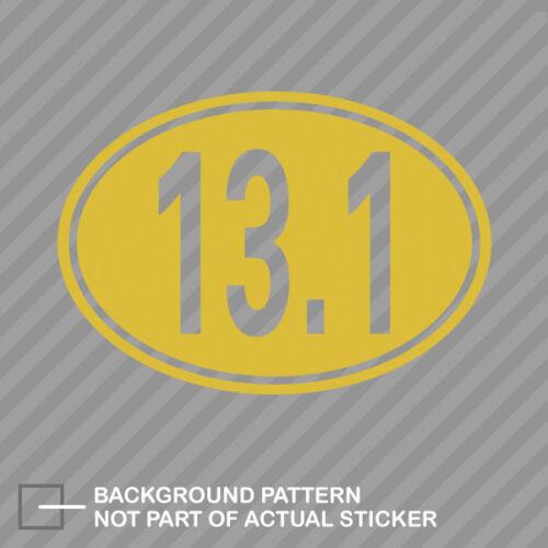 Oval 13.1 Sticker Decal Vinyl half marathon 13 miles