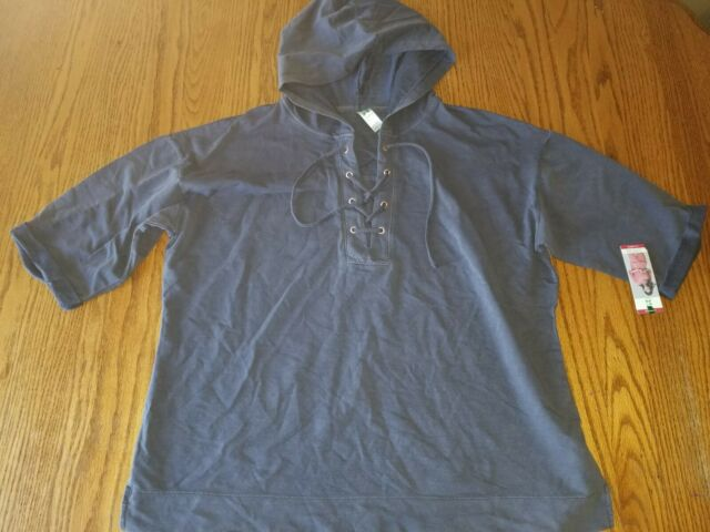 New Green Tea Fleece Pullover Sweatshirt Sz S Small Purple Violet