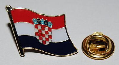 Flaggen-Pin//Anstecker Kroatien vergoldet