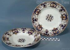Set Ravenscliffe Blue Brown Orange Dunn Bennett & Co England Large Soup Bowls FF