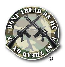 Dont Tread On Me M 16 Camo Car Truck Window Decal Sticker High Quality