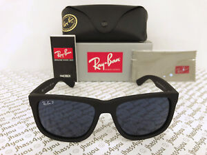 Ray-Ban Justin BLUE Classic POLARIZED RB4165 622 2V Wayfarer Matte ... 30ee6f70c1