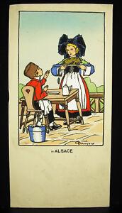 Gaston MarÉchaux (1872-c.1936) Alsace Imprimerie Starsbourg Dessin Original 1920 Nombreux Dans La VariéTé