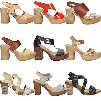 Damen Sandaletten MARILA Echtleder Sommer Blockabsatz Sandalen Gr. 35 40 SALE | eBay