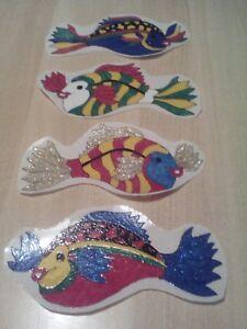 Details zu Window Color Bild Badezimmer Deko 4 große Fische