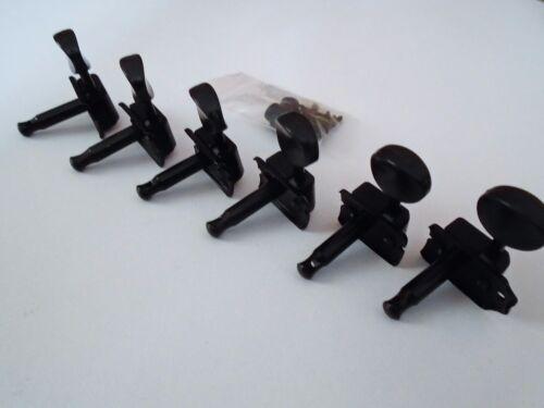 télé mustang. NEW Mécaniques 6L VINTAGE black pour guitare strat