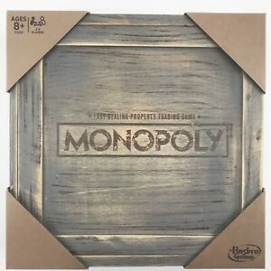 MONOPOLY-GAME-Rustic-Edition-Series-Wood-Board-Box-Tokens-Storage-Hasbro-Toy-NEW