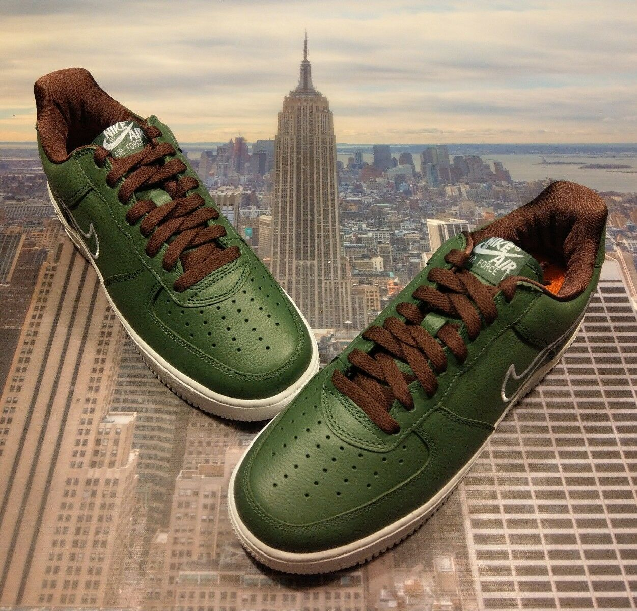 Nike Air Force 1 Low Retro Hong Kong Deep Forest Size 7.5 Mid High 845053 300