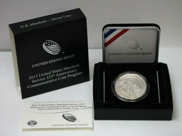 2015-P US Marshals Service 225th Anniversary Commemorative BU Silver Dollar