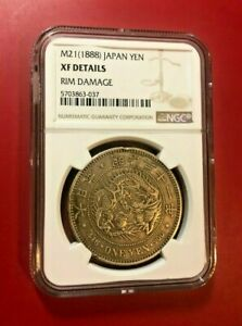 M21-1888-Japan-Yen-XF-Details-NGC-RIM-DAMAGE