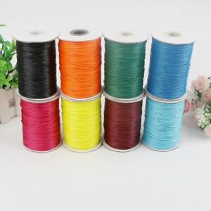 Waxed-Cotton-Cord-Wire-Beading-Macrame-String-Jewelry-DIY-1-1-5-2-mm-Necklace