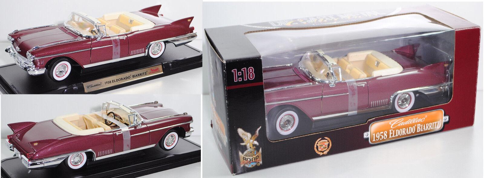 ROAD Signature   Yatming 5510863 Cadillac Eldorado Biarritz, weinrot, 1 18  | Großer Räumungsverkauf