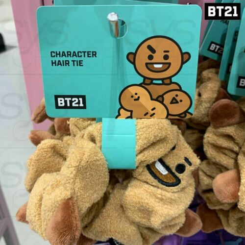 Tracking Num BTS BT21 Official Authentic Goods Scrunchy Hair Tie 7Characters