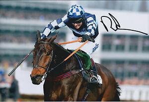 Richard-JOHNSON-SIGNED-Jockey-12x8-Photo-AFTAL-COA-Autograph-Gold-Cup-WINNER