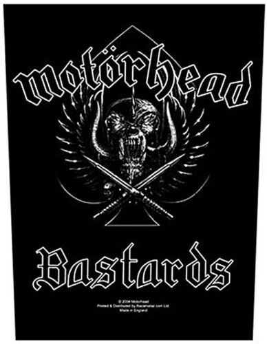 ro Motorhead B**tards giant backpatch sew-on cloth patch   360mm x 300mm