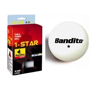 Tischtennis-Baelle-Bandito-6-Stueck-Star-Turniergroesse-Ping-Pong-Tischtennisbaelle