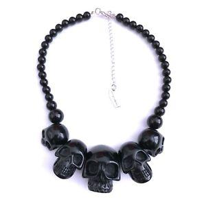 Kreepsville 666 Gothic Horror Punk 90s Black Skull Collection Necklace Choker