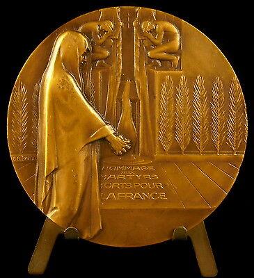 100% De Calidad Médaille à Raymond Berr Mort à Auschwitz Ets Kuhlmann Sc Bazor C 1950 68mm Medal El Buen Gusto