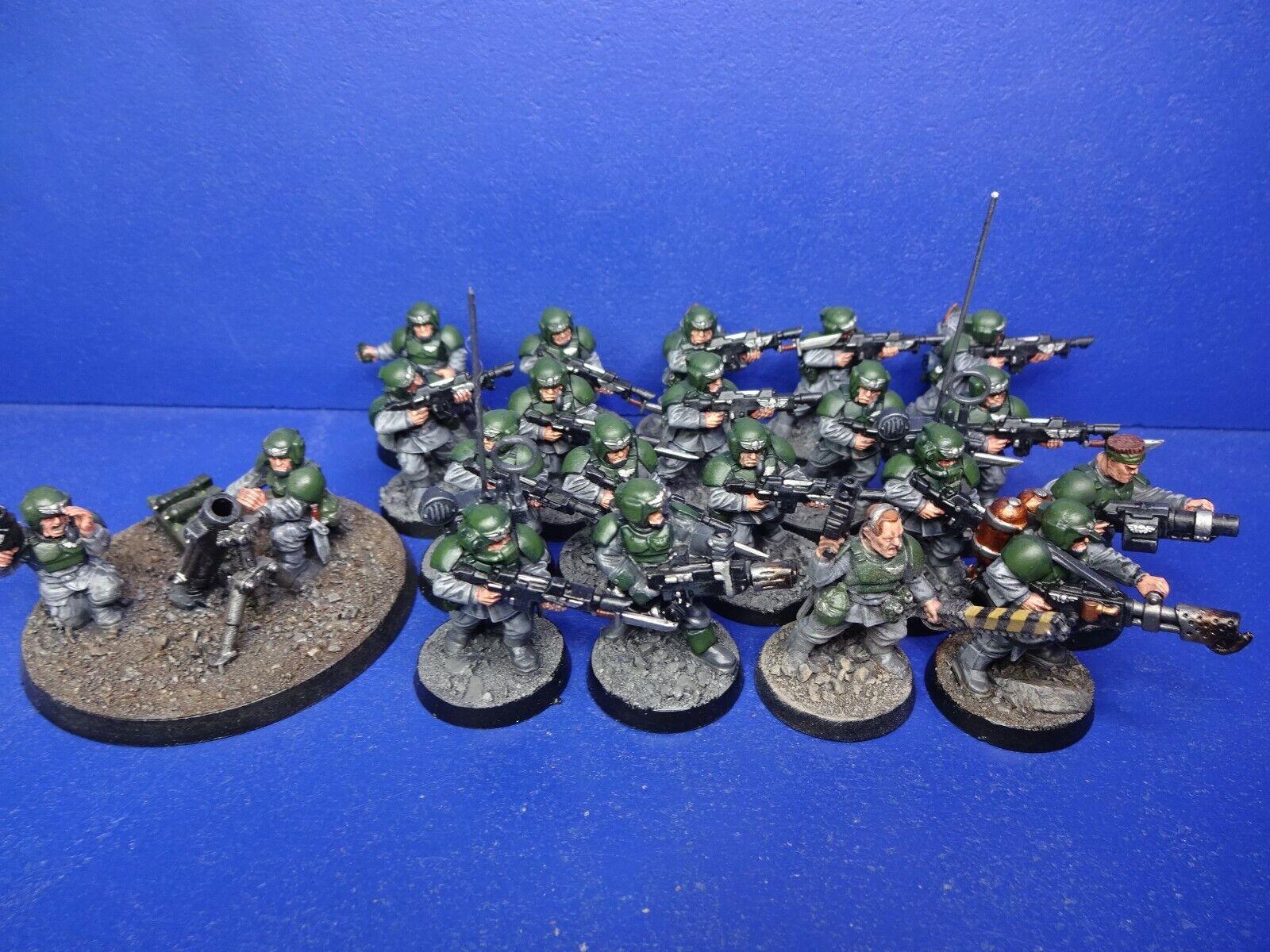 18 cadianer  + armi squadra + specialeee Arma Dei Imperiale Esercito Dipinto Bene  ordina ora goditi un grande sconto