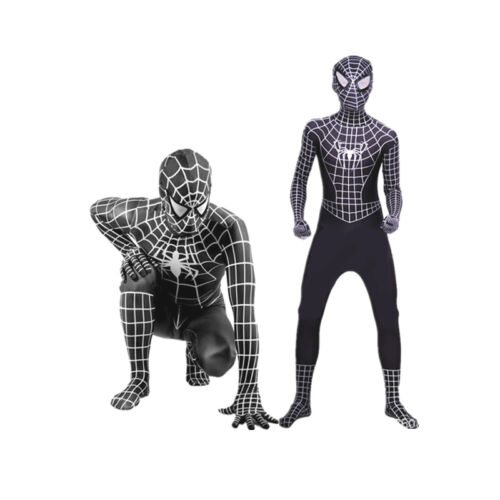 Adult Kids Spider-Man Spiderman Jumpsuit Cosplay Costume Fancy Dress Outfit HOT