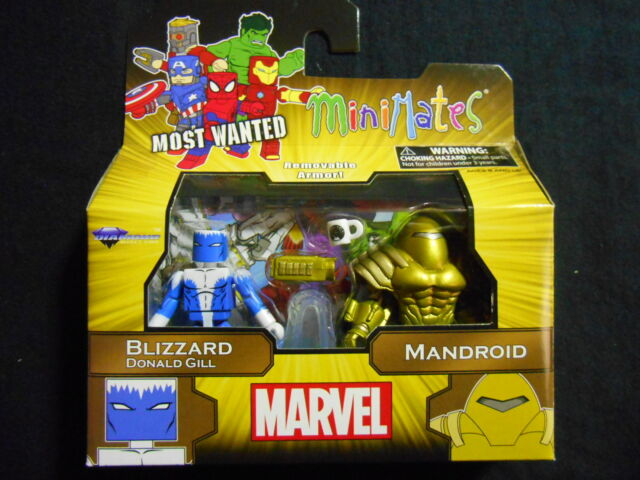 """MARVEL MOST WANTED MINIMATES SERIES 69 """"BLIZZARD DONALD GILL / MANDROID"""""""