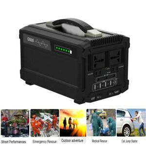 2dde213a459a71 Image is loading 500W-444Wh-Portable-Power-Supply-Station-Emergency-Backup-