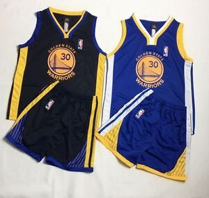 more photos ce16e 9474c Details about Express Kid Basketball Jersey Golden State Warriors Stephen  Curry #30 Top+Short