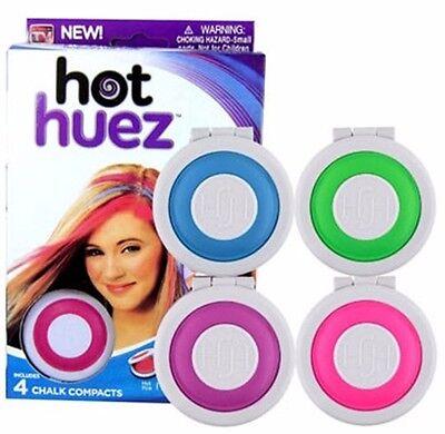 Aggressivo 4er Set Hot Huez Sexy Hair Chalk Capelli Gesso Capelli Tinta Per Capelli Cipria Serie X Capelli-mostra Il Titolo Originale Delizie Amate Da Tutti