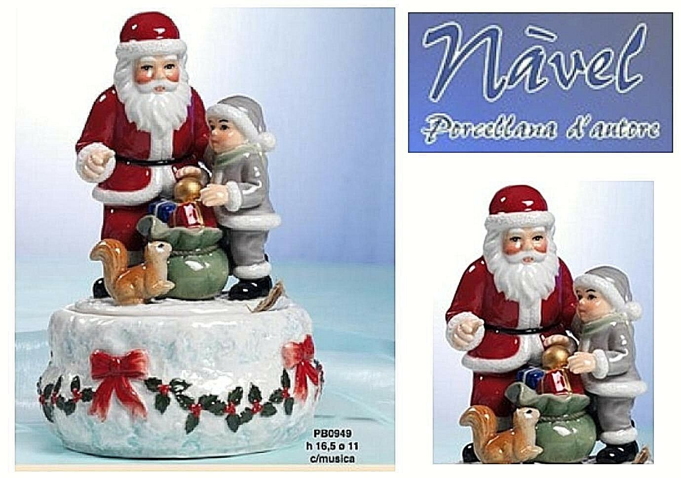 Spieluhr Mechanisch Weihnachtsmann Musik Weihnachten Fine Porzellan Made in  | Deutschland Store