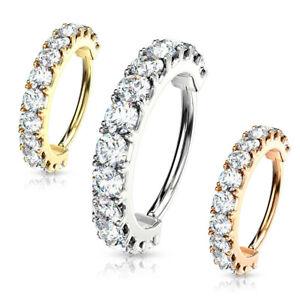 Cartilage-Crystal-Huggie-Bendable-8mm-Hoop-Nose-Daith-Rose-Gold-Silver-20-18-amp-16G