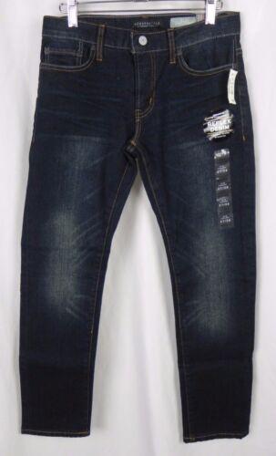 A1-25 NEW Aeropostale/'s Men/'s Slim Straight Dark Wash Jeans