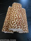 Leopard Print Burp Cloths x 3 Towelling Backed GREAT GIFT IDEA!!
