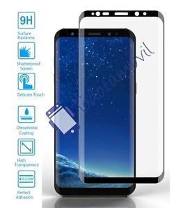 Protector de pantalla cristal templado completo Samsung Galaxy S9 Plus negro