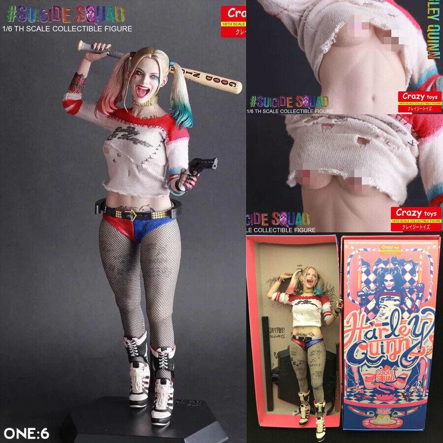 Crazy Toys DC GIUSTIZIA Harley Quinn 12  REAL Clothes ACTION FIGURE STATUA modello