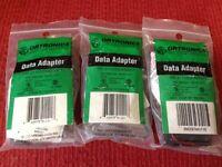 Ortronics - P/n: Or-211025da8mkit Db25/m- Female 8p8c Data Adapter Kit- Lot Of 3