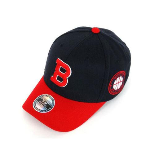 Unisex Mens Boston Baseball Cap Initial B Flexfit Stretch Fit Hats S-M M-XL