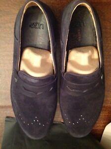UGG Men's CALI Navy Suede & Nubuck Penny Loafers Size: 12M ...